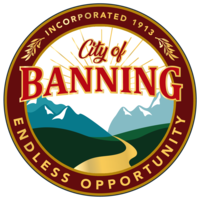 logo or seal for City of Banning