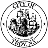 logo or seal for Troy, NY