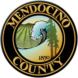 logo or seal for Mendocino County