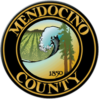 logo or seal for Mendocino County